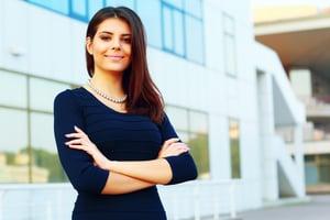 Portrait of a confident happy businesswoman