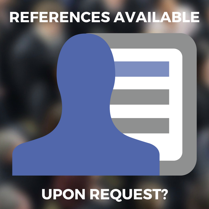 REFERENCES AVAILABLE